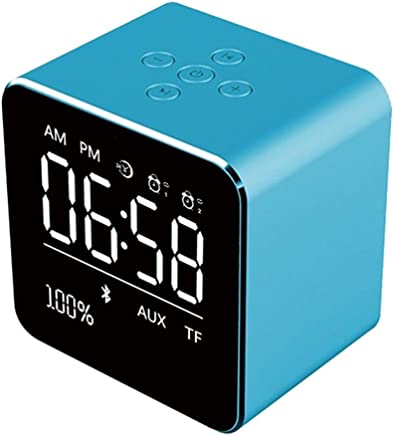Altoparlanti portatili 2019 Square Mirror Mini Altoparlante Bluetooth Multifunzione Alarm Clock TF Card Cavo audio USB Display Wireless Speaker Multicolor (Color : Blue) - Trova i prezzi più bassi