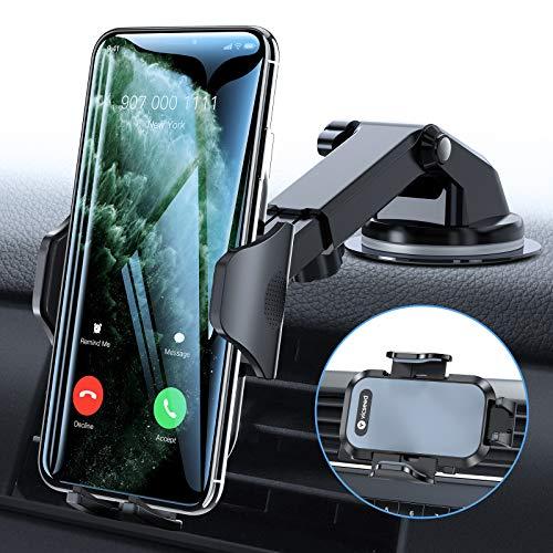 VICSEED Handyhalter fürs Auto Handyhalterung mit Starkem Saugnapf, 3 in 1 KFZ Lüftung Handy Halter Amaturenbrett Universal Autohalterung für iPhone 12/11/XS,Galaxy10/9/8,HTC,Google, Alle Smartphones
