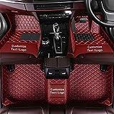 WYJW Alfombrillas de Coche Personalizadas para Ford Edge Explorer Fiesta Focus C-MAX Fusion Territory Kuga, Juego de Alfombrillas de Cuero de PU para Coche, Alfombrillas Antideslizantes