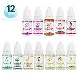 Seifenduftöl - 12 Flüssig Duftöl Seifen Duft Set zur Badekugeln, Seifenherstellung, Konzentrierte...