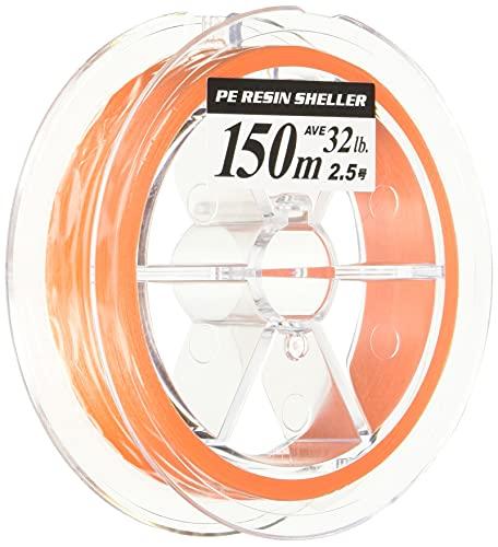 ヤマトヨテグス(YAMATOYO) PEライン PEレジンシェラー 150m 0.8号 12lb 4本編み+コーティング オレンジ
