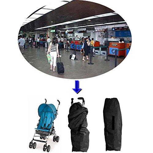 Yuccer Borse da Trasporto per Passeggini, Borsa da Viaggio per Passeggino Impermeabile Check-Borsa Organizzatore Leggero aeroporto Nero(B)