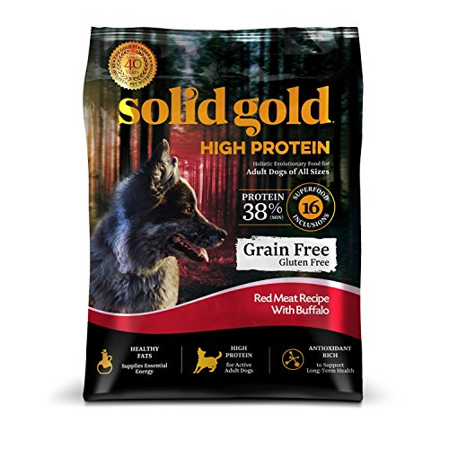 Solid Gold High Protein Dry Dog Food; Grain-Free...