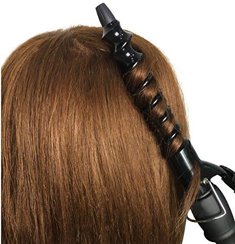 YUNAI Pro LCD Display Spiral Iron Ceramic Spiral Styler Spiral Hair Curler Curling Wand