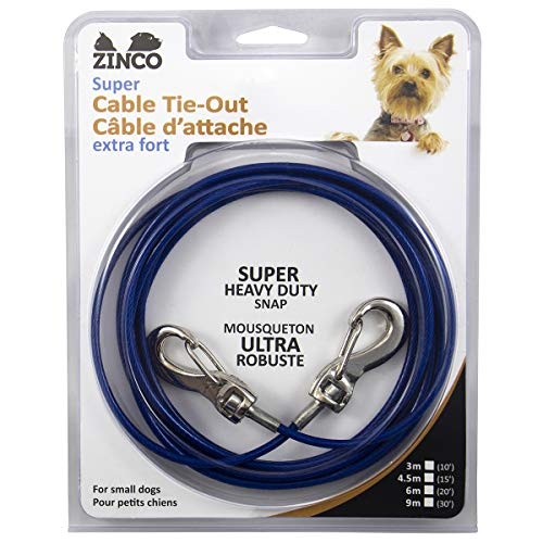 Zinco Strong Tie-Out Cable 360 Degree Rotating Double Swivel Connector...