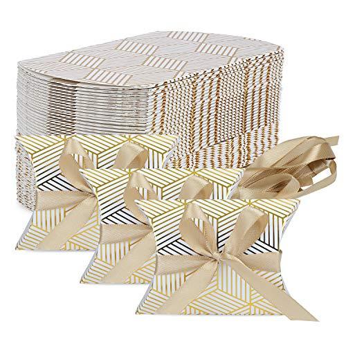TsunNee Geschenkbox aus Kraftpapier, Pralinenschachtel aus Papier, Geschenkboxen für Hochzeitspartys, Geschenkschachteln aus Papier, 50er-Pack