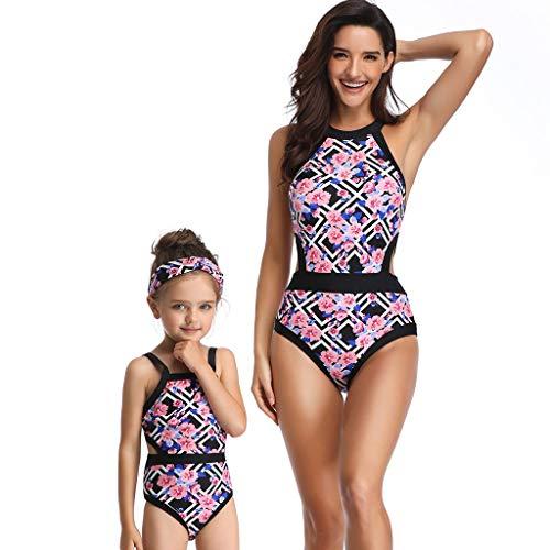 CICIYONER Drucken sexy Badeanzüge Einteiler Mutter und Tochter passenden Badeanzug Kleidung