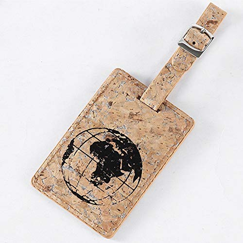 Raybre Art Cork PU Leather Aircraft Luggage Tag Suitcase Tag Card Holder Best Hot asd