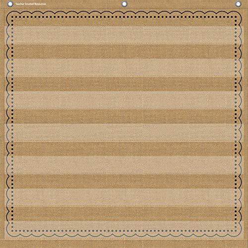 "Teacher Created Resources Burlap 7 Pocket Chart (28"" x 28"") - 20837"