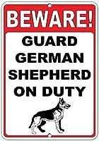 注意してください! 義務のおかしい引用アルミニウム金属看板にドイツの羊飼いを守る