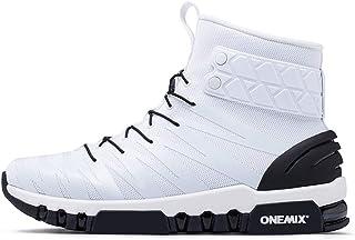 ONEMIX Men Boots Running Shoes Women Sneakers High Top Winter Snow Boots Outdoor Waterproof Walking Trekking Sneaker Big Size 46
