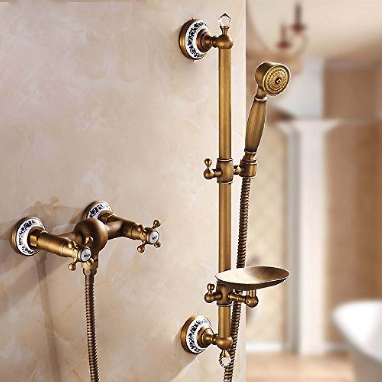 YFF@ILU Alle Kupfer Badewanne Dusche Badewanne Dusche, antike, Kopf, Continental, heier und kalter Dusche einfach, schwarz
