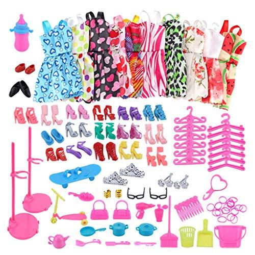 lahomia Faldas Vestido Zapatos de Tacn Alto Kit de Sandalias Conjunto para Muecas 1: 6 Conjunto de Disfraces