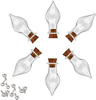 AEXGE Tear Drops Drift Bottle Mini Glass Vials Bottle Wishing Bottle DIY Pendants for Wedding DIY, Arts Crafts, Projects, Party Favors,Pack of 10