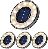 Luces Solares Led Exterior,Tomshine 4 Pack 12 LEDs Luces Solares para Jardn,IP68...