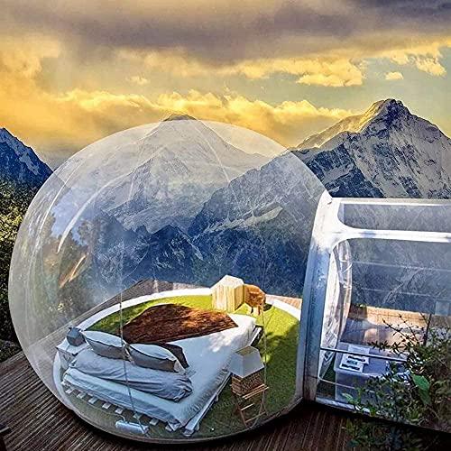 Tenda a bolle gonfiabile, trasparente, tenda familiare ecologica gonfiabile, con ventilatore, adatta per l'osservazione delle stelle all'aria aperta / retromarcia / festival e campeggio familiare