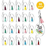 Best E Key Blanks - 30Pcs Acrylic Clear Circle Discs Transparent Round Keychain Review