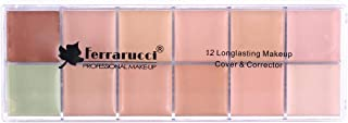 12 Long Lasting Makeup Cover and Corrector by Ferrarucci, Multi Color