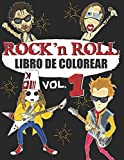 LIBRO DE COLOREAR ROCK N ROLL: Un libro para colorear para a