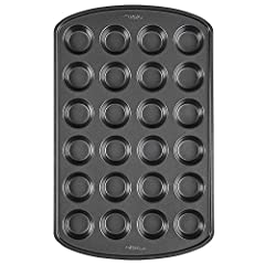 Baking lots of mini cupcakes or muffins all at once with this 24 cup pan Made of steel; reinforced non stick coating for easy release and quick cleanup Pan dimensions: 10 x 16 x 1 inches (25.4 x 40.6 x 2.5 centimeter); Cavity size: 1 x 1.5 inches dia...