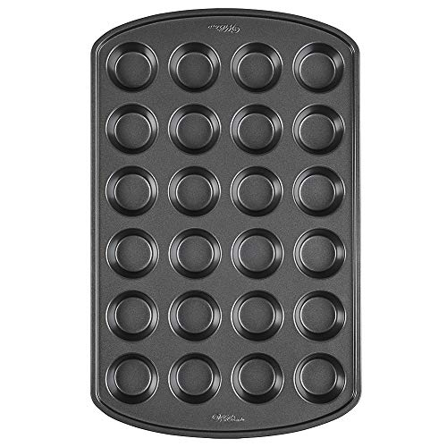 Wilton Non-Stick Mini Muffin and Cupcake Pan, 24-Cup