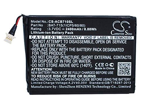 Cameron Sino 2400mAh/8.88WH batería de Repuesto para Acer Iconia Tab B1–710