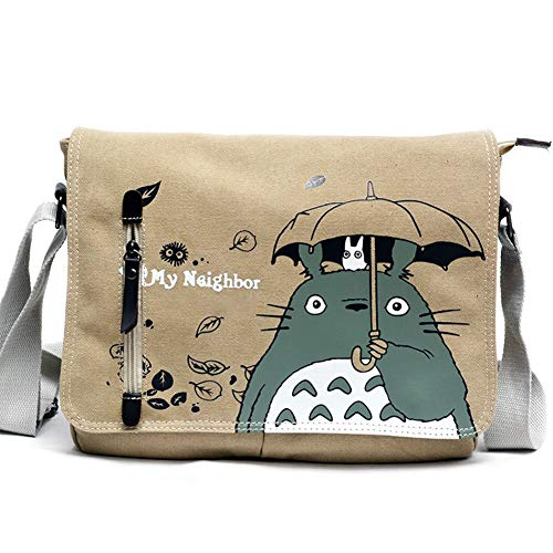 Skisneostype Totoro Bandolera Mochila Dibujos Hombro Bolsas Hombro Lona Bolso Tira Cosplay Bolsa para Niña Niño - H01