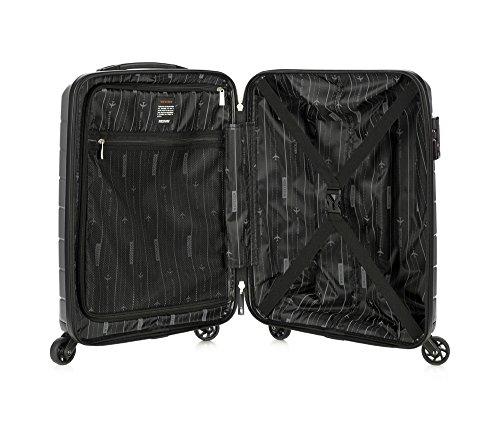 WITTCHEN Koffer – Handgepäck   hartschalen, Material: Polypropylen   hochwertiger und Stabiler   Schwarz   29 L   55x38x20 cm
