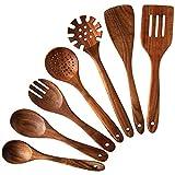 Nayahose Lot de 7 cuillères et spatules en bois de teck pour la...