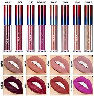 Pintalabios Mate set Brillo Labial de Larga Duración DELANCI 8 ColoresLápiz Labial Líquido Profesional Maquillaje de La...