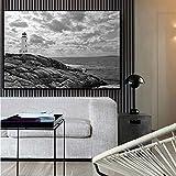 Danjiao Negro Blanco Paisaje Lienzo Pintura Carteles E Impresiones Escandinavo Nórdico Pared Arte Imagen Para Sala De Estar Sala De Estar Decor 60x90cm