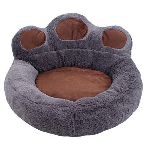 Suave cama para gatos de peluche para cachorros, cachorros, cachorros, sofá para gatos, cojín suave para perros, cojín para perros, diseño de gato de oso #4 S: 40 x 45 cm