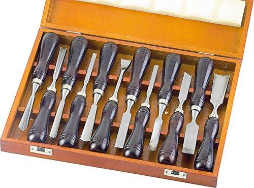 Ensemble de 12 ciseaux à bois japonais (Nomi)