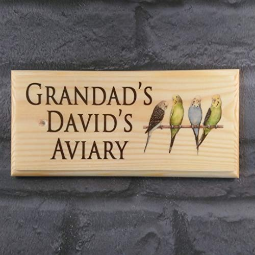 Personalised Aviary Sign, Bird Shed Sign, Custom Aviary Plaque, Personalised Aviary Shed Sign, Grandads Aviary Sign