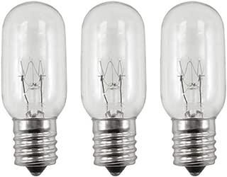 Three Bulbs 25T8N Clear 25 Watt 130 Volt E17 Intermediate Base 25W Microwave