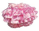 Haian ABDL PVC & Satin Ruffle Rhumba Pull on Plastic Pants (X-Large, Pink)