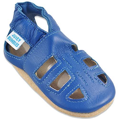 Baby Sandalen - Lauflernschuhe - Krabbelschuhe - Babyschuhe - Blaue T-Bar Sandalen 0-6 Monate (Größe 19/20)