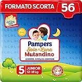 Pampers Sole&luna Pannolino A Mutandino Junior, Taglia 5 (2-8 Kg), 56 Pannolini