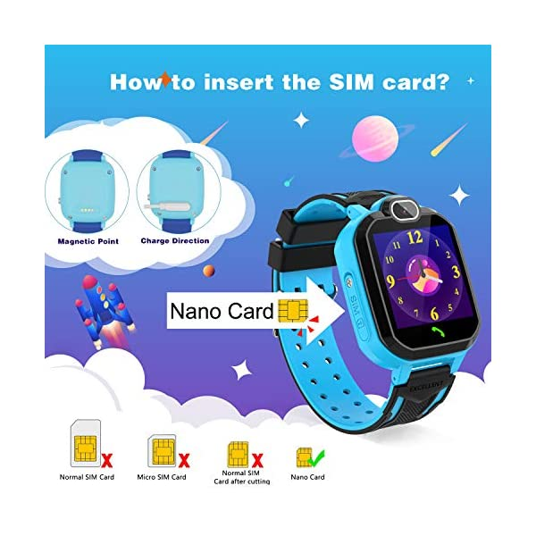 Reloj Inteligente para niños Kids Smartwatch para niños Niñas Juego de teléfono Smart Watch para niños Niños Reproductor… 8