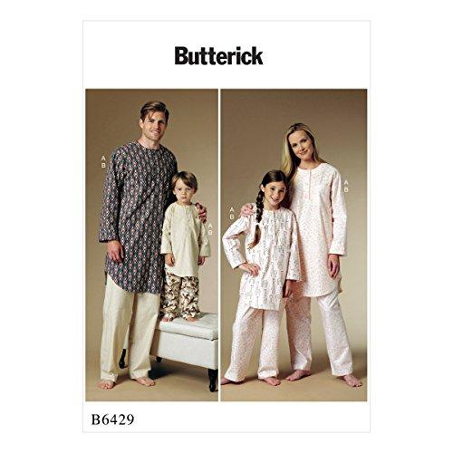 Butterick Patterns Butterick 6429Kinder, Schnittmuster/Herren/Kinder/Jungen/Mädchen Tunika und Hose, Größen 3–12, mehrfarbig