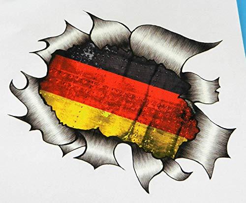 Vinyl Stickers Deutsche Flagge Zerrissenes Metall Aufkleber