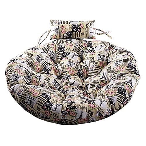 CYGJ Cuscino per Sedia Sospesa,Cuscino di Seduta Singolo Semichiuso Il Cuscino del Cestino a Doppio Spessore può Essere Lavato su Un Lato