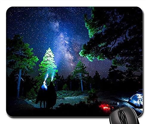 Mauspad Zelt Camping Abenteuer Outdoor Berge Nacht Mausunterlage Anti Rutsch Gummiunterseite Ultradünner Gaming Mousepad Anti-Ausfransen Gaming Mausmatte Für Laptop/Pc, 25X30 Cm