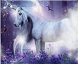 INTIMO Mystical Unicorn and Fairies Fantasy Blanket Super Soft Silk Touch Plush Fleece Throw 50' X 60'