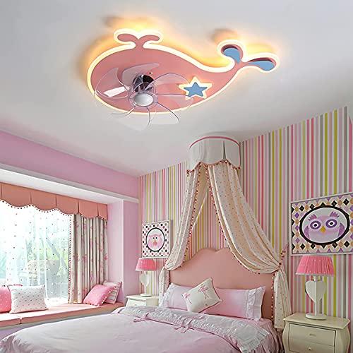 Ventilatore da soffitto con illuminazione a LED e telecomando per camera da letto Plafoniera moderna Ventilatore per bambini Plafoniera Ventilatori da soffitto muti con lampade Lampada da soffitto s