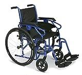 Smart Reha - Rollstuhl mit Selbstantrieb. Lackiertem Stahl-Stabilisierungsrahmen. Sitzbreite 50 cm -
