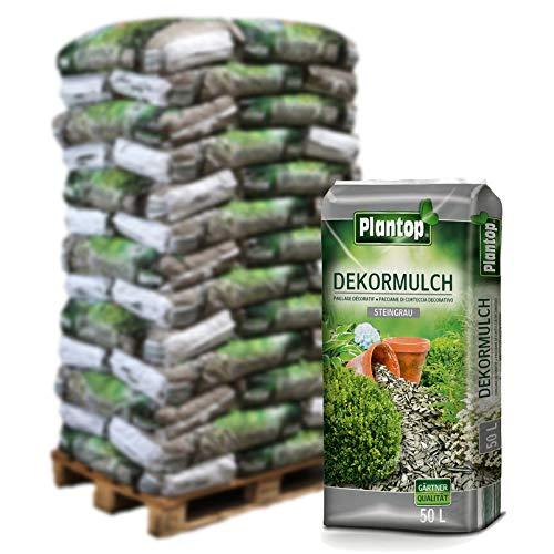 Preisvergleich Produktbild Plantop Dekormulch steingrau 39 Sack á 50 l,  Palettenware ohne zusätzliche Versandkosten