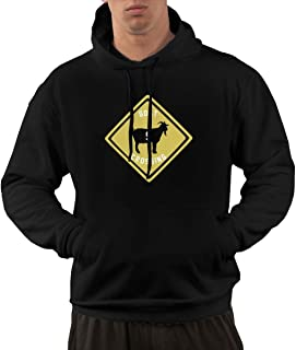 Men's Funny Drew -Brees -Goat CROSSIN Hooded Sweatshirt Black