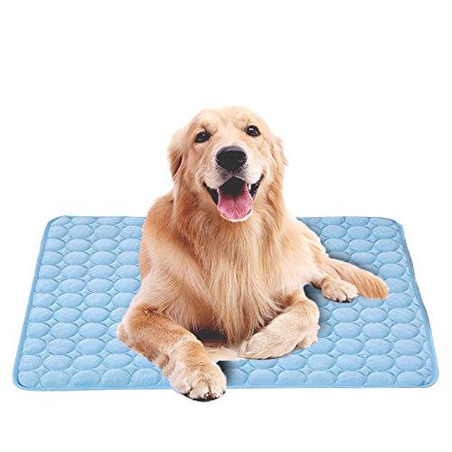 Branger selbst Kühlmatte, Ice Silber Pet Matte, Cool Matte für Hunde & Katzen leitet Wärme Weg von Ihrem Haustier, Halten Sie cool in den warmen Sommer Wetter