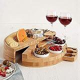 Beifeng Tabla de quesos cubiertos cortador conjunto con...